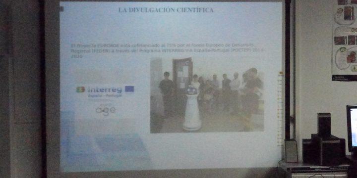 """Conferencia para niños del Colegio de Educación Infantil y Primaria """"Donoso Cortés"""" de Cáceres"""