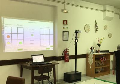 Validação de jogos cognitivos com robô em lar da Santa Casa da Misericórdia de Castelo Branco